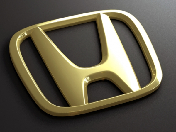 Golden yellow honda logo
