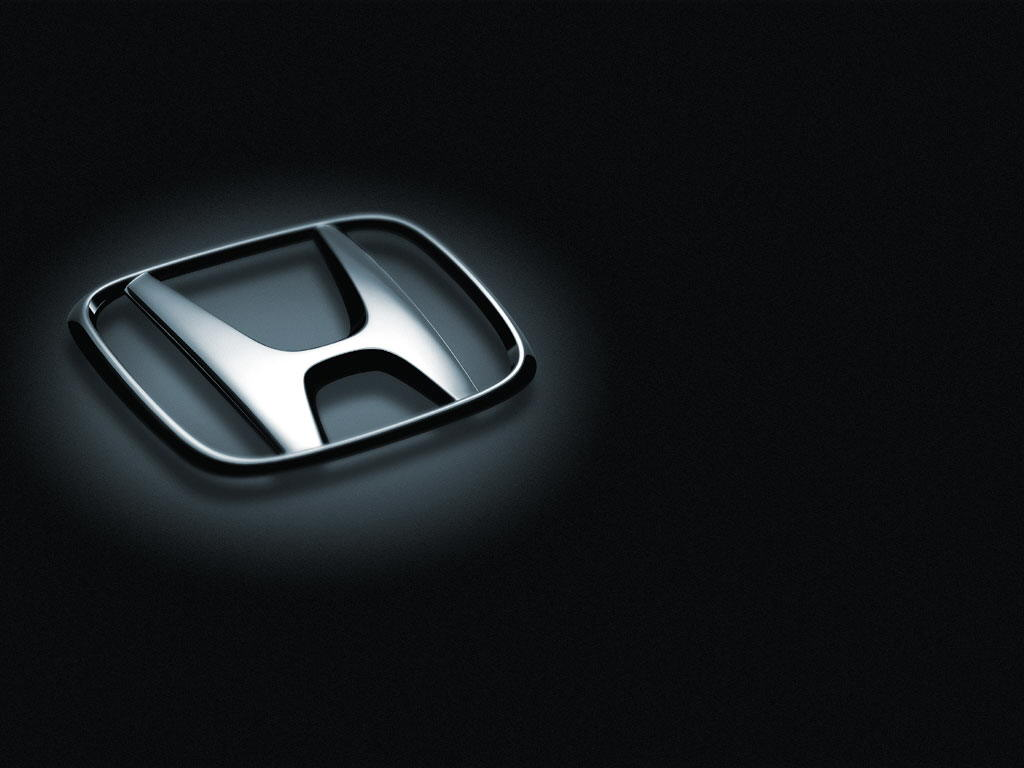 Three dimention form of honda logo