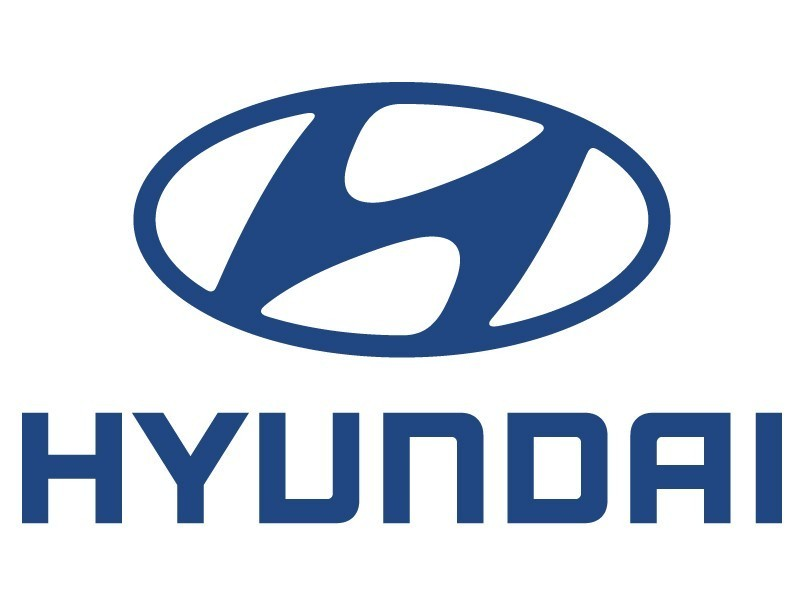 Blue Hyundai logo symbol