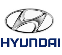 Hyundai logo formed of an oval circle