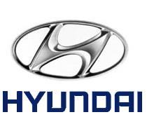Hyundai logo formed of an oval circle