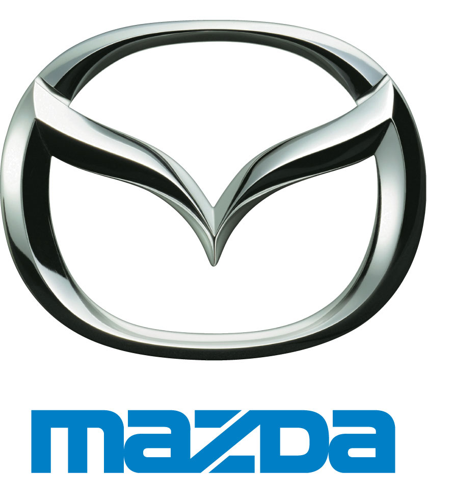 Vertical mazda logo model