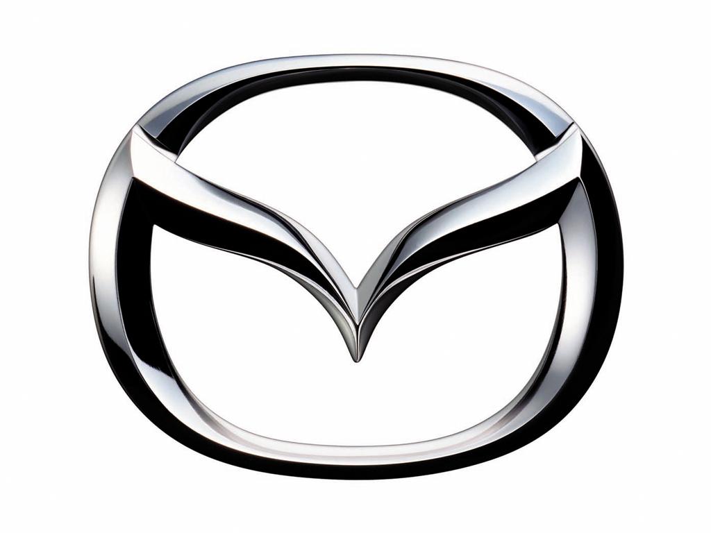 Silver mazda logo color