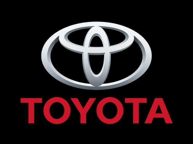 One model of toyota logo