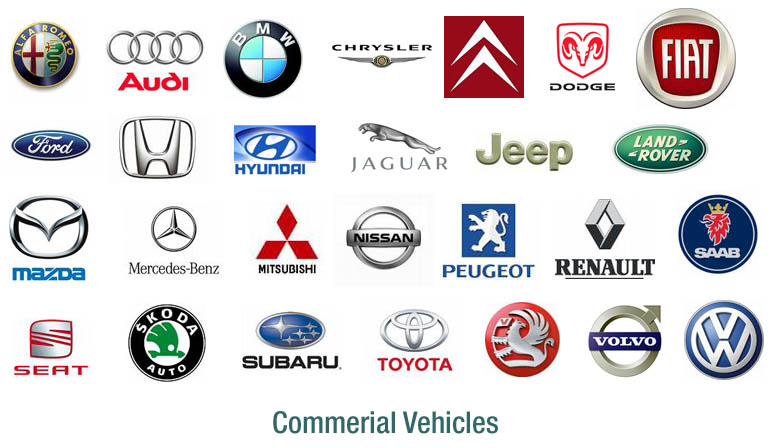 Commercial car company logos list