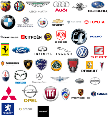 Some car company logos list