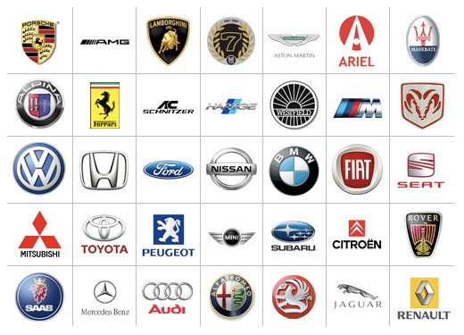 Chart of car emblems