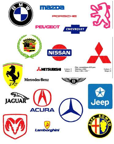 Several car emblems