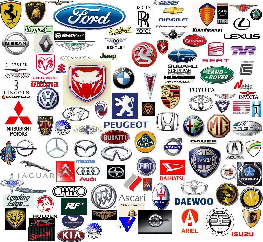 all car logos inside the list