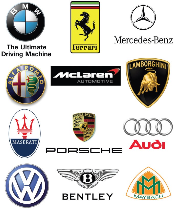 European premium cars logo list