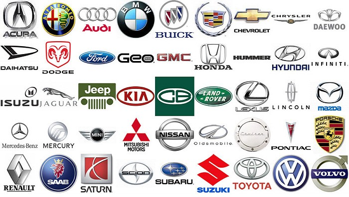 European american and asia car logos images