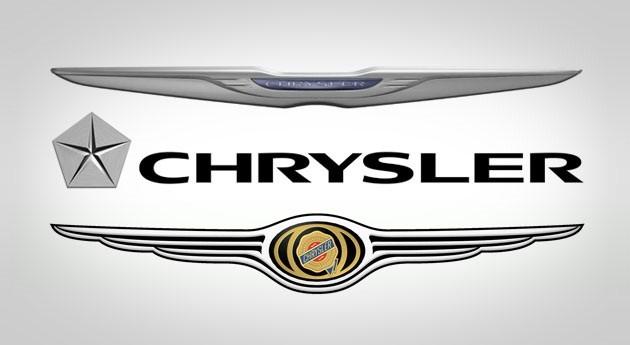 Various models of Chrysler logo