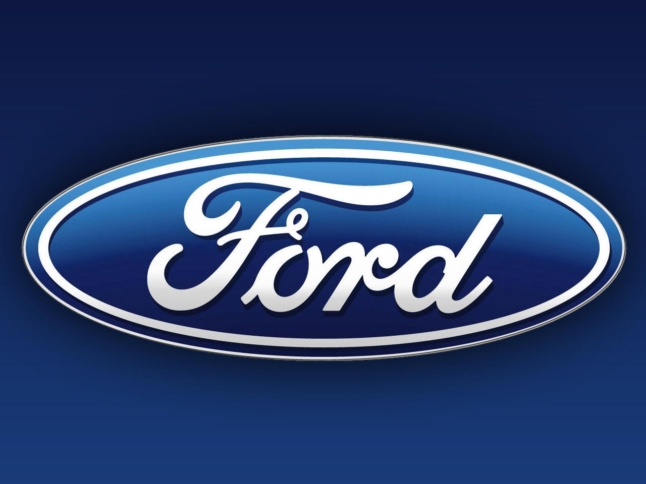 ford logo on the blue theme background