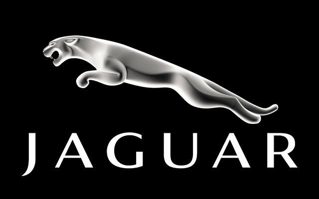 Jaguar logo on black background