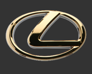 Oval lexus logo emblem model