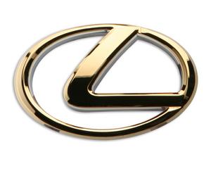Gold lexus logo emblem