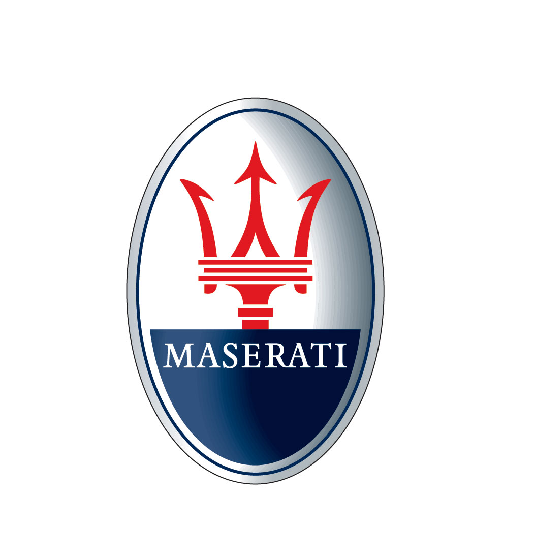 Red maserati logo color