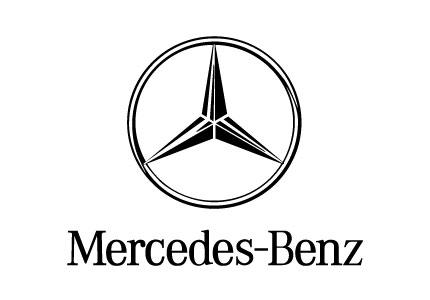 Black mercedes logo model