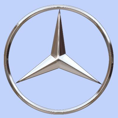 Silver mercedes logo