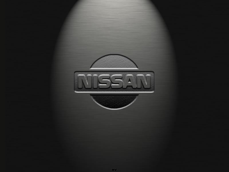 Nissan logo on the dark theme background