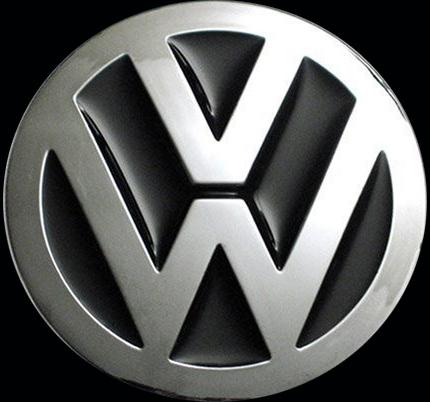 Volkswagen logo on black background