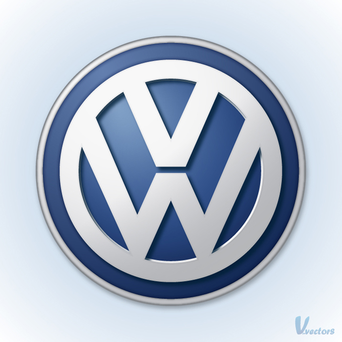 Volkswagen logo on light blue background Car logos
