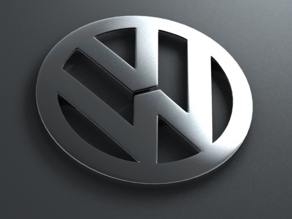 3 dimention volkswagen logo model