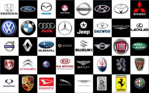 car logos collage