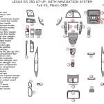 Lexus ES 350 dashboard parts