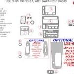 Lexus GS300 dashboard parts