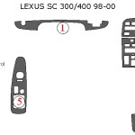 Lexus SC300-400 dashboard parts