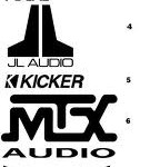 car audio brands logo